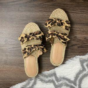 Loeffler Randall Cheetah Platform Sandal Size 35